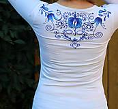 Tričká - Aničkina voľba II - ornamenty na rukávoch aj chrbáte... - 5829448_