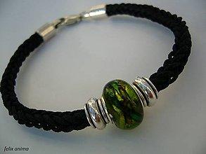 Náramky - Náramok so zelenou vinutkou - 5828945_