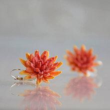 Náušnice - Chryzantémy na ouška - 5825763_