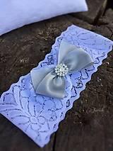 Bielizeň/Plavky - Svadobný  podväzok - 5826614_