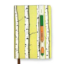 Papiernictvo - Zápisník A6 Breza (Zápisník A6 Breza (s dierovanou dumičkou)) - 5827623_