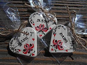 Darčeky pre svadobčanov - darček pre hostí / folk magnetka - 5825969_
