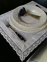 Úžitkový textil - Ľanové prestieranie White Madness - 5826039_