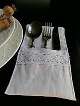 Úžitkový textil - Púzdro na príbor White Madness - 5826053_