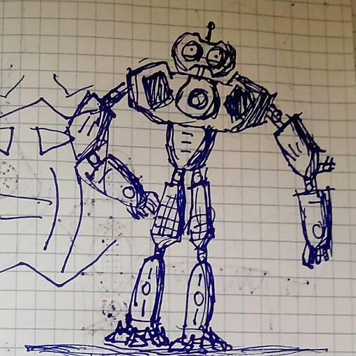 Robot Kresba Biabi Sashe Sk Handmade Kresby