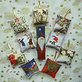 Vianoce - ozdoby Vianočná sada No. 3 (9 ks látkových ozdob)