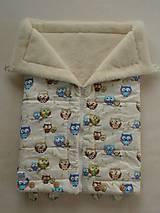 Textil - Merino Deka 75 x 105 cm sovičky - 5834242_