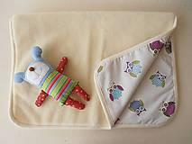 Textil - Deka / prikrývka merino  pre deti SOVIČKA - 5834261_