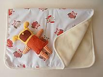 Textil - Deka / prikrývka ovčie runo pre deti SOVIČKA - 5834264_