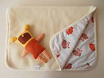 Textil - Deka / prikrývka ovčie runo pre deti SOVIČKA - 5834265_