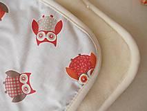 Textil - Deka / prikrývka ovčie runo pre deti SOVIČKA - 5834266_