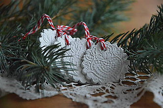 Dekorácie - Vianočné ozdoby keksíky - 5832698_