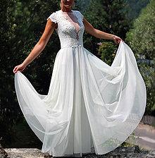 Šaty - Svadobné šaty z elastickej krajky a tylu - 5832405_