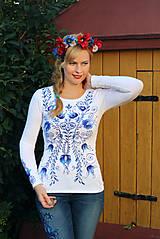 Tričká - Aničkina voľba II - ornamenty na rukávoch aj chrbáte... - 5830874_