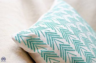Úžitkový textil - vyšívaná obliečka na vankúš - 5832150_