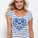 Tričká - Dámske tričko Májofka modrá - 5833540_