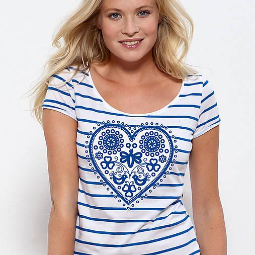 Dámske tričko Májofka modrá