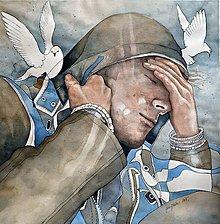 Obrazy - Sny o slobode II, akvarel - 5831323_