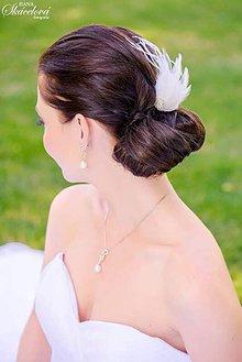 Ozdoby do vlasov - Fascinátor z peria - 5834446_