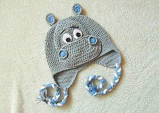 Detské čiapky - Hrošík na hlavičku :) - 5836701_
