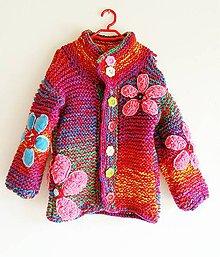 Detské oblečenie - Svetrík kvietkovaný č.2 - 5834533_