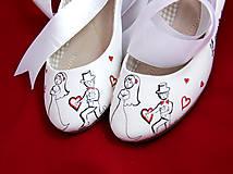 Obuv - svadobné baleriny so stuhou - 5835181_
