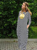 Šaty - FNDLK úpletové šaty 22čb BRqL MAXI - 5834746_
