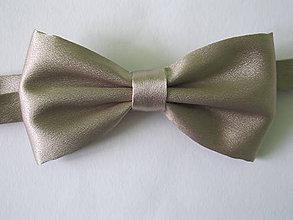 Doplnky - Pánsky motýlik -béžová elegancia - 5837028_