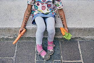 Detské doplnky - Dočasné tetovačky - Abeceda - 5835332_