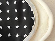 Textil - Deka / prikrývka Čierno-biela HVIEZDA s merinom - 5837949_