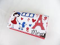 Peňaženky - S Polly v Paříži - peněženka 17 cm i na karty - 5837146_