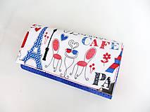 Peňaženky - Na kafíčku v Paříži - peněženka 17 cm i na karty - 5837202_