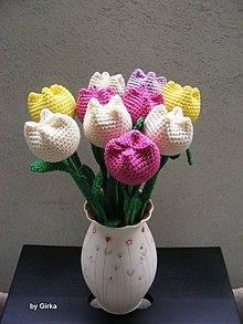 Dekorácie - Farebné tulipánky - 5834675_