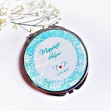 Darčeky pre svadobčanov - zrkadielko Čipka - text na želanie - 5837168_
