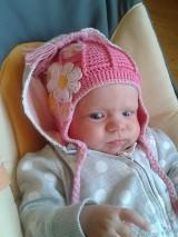 Detské čiapky - Kvetinková ušanka - 5834586_