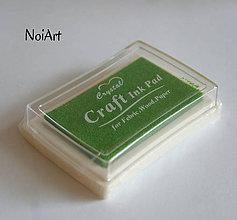 Farby-laky - Pečiatková farba zelená - 5839286_