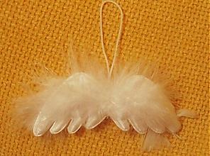 Dekorácie - Anjelské krídla - sada 4 kusy - 5838105_
