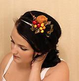Ozdoby do vlasov - čelenka s farbami jesene - 5841548_