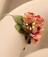 Ozdoby do vlasov - krásna čelenka s ružičkami - 5841642_