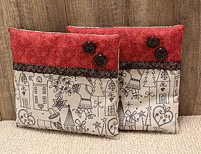 Úžitkový textil - Vianočné vankúšiky - 5841462_