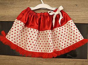 Detské oblečenie - vianočná s hviezdičkami - 5841622_