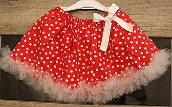 Detské oblečenie - Bodkovaná suknička pre princezničky - 5841629_