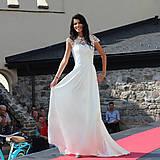 Šaty - Svadobné šaty lístoček s vlečkou - 5840565_