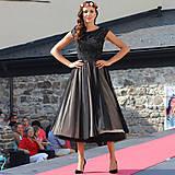 Šaty - Tylové spoločenské šaty vo vintage štýle - 5840886_
