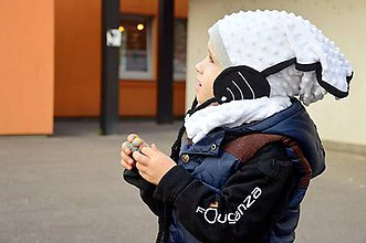 Detské čiapky - Wifi čiapka + nákrčník biela - 5841673_