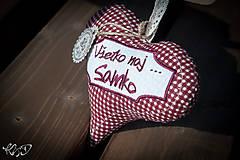 Dekorácie - Srdiečko pre Samka - 5843864_