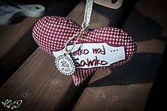 Dekorácie - Srdiečko pre Samka - 5843865_