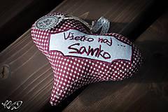 Dekorácie - Srdiečko pre Samka - 5843866_