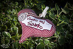Dekorácie - Srdiečko pre Samka - 5843870_