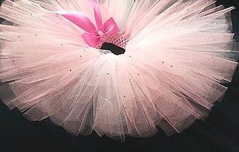 Detské oblečenie - cukrová vata - tylová suknička menšia - 5843241_